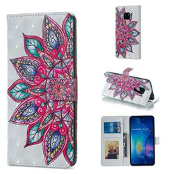 Mandara Flower 3D Painted Leather Phone Wallet Case for Huawei Mate 20