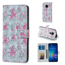 Roses Flower 3D Painted Leather Phone Wallet Case for Huawei Mate 20
