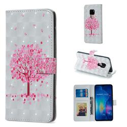Sakura Flower Tree 3D Painted Leather Phone Wallet Case for Huawei Mate 20