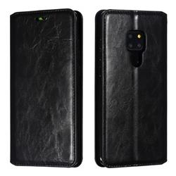 Retro Slim Magnetic Crazy Horse PU Leather Wallet Case for Huawei Mate 20 - Black