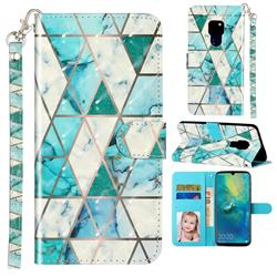 Stitching Marble 3D Leather Phone Holster Wallet Case for Huawei Mate 20