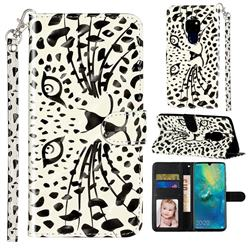 Leopard Panther 3D Leather Phone Holster Wallet Case for Huawei Mate 20