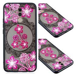 Daffodil Lace Diamond Flower Soft TPU Back Cover for Huawei Mate 20 Lite