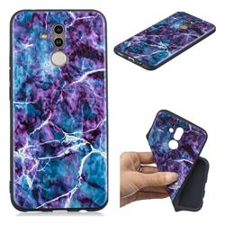 Marble 3D Embossed Relief Black TPU Cell Phone Back Cover for Huawei Mate 20 Lite