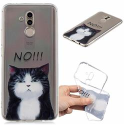 Cat Say No Clear Varnish Soft Phone Back Cover for Huawei Mate 20 Lite