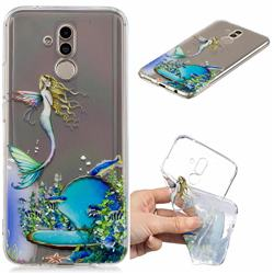 Mermaid Clear Varnish Soft Phone Back Cover for Huawei Mate 20 Lite