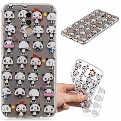 Mini Panda Clear Varnish Soft Phone Back Cover for Huawei Mate 20 Lite