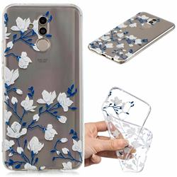 Magnolia Flower Clear Varnish Soft Phone Back Cover for Huawei Mate 20 Lite