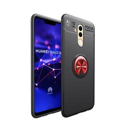 Auto Focus Invisible Ring Holder Soft Phone Case for Huawei Mate 20 Lite - Black Red