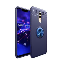 Auto Focus Invisible Ring Holder Soft Phone Case for Huawei Mate 20 Lite - Blue