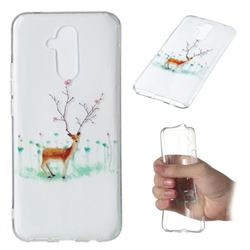 Branches Elk Super Clear Soft TPU Back Cover for Huawei Mate 20 Lite