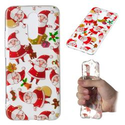 Santa Claus Super Clear Soft TPU Back Cover for Huawei Mate 20 Lite