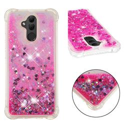 Dynamic Liquid Glitter Sand Quicksand TPU Case for Huawei Mate 20 Lite - Pink Love Heart