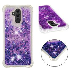 Dynamic Liquid Glitter Sand Quicksand Star TPU Case for Huawei Mate 20 Lite - Purple