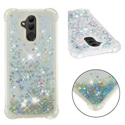 Dynamic Liquid Glitter Sand Quicksand Star TPU Case for Huawei Mate 20 Lite - Silver