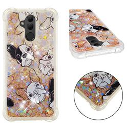 Bulldog Dynamic Liquid Glitter Sand Quicksand Star TPU Case for Huawei Mate 20 Lite