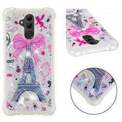Mirror and Tower Dynamic Liquid Glitter Sand Quicksand Star TPU Case for Huawei Mate 20 Lite
