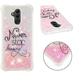 Never Stop Dreaming Dynamic Liquid Glitter Sand Quicksand Star TPU Case for Huawei Mate 20 Lite