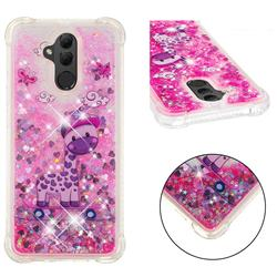 Skateboard Deer Dynamic Liquid Glitter Sand Quicksand Star TPU Case for Huawei Mate 20 Lite
