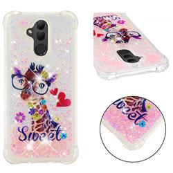 Sweet Deer Dynamic Liquid Glitter Sand Quicksand Star TPU Case for Huawei Mate 20 Lite
