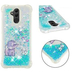 Bubble Jumbo Rabbit Dynamic Liquid Glitter Sand Quicksand Star TPU Case for Huawei Mate 20 Lite