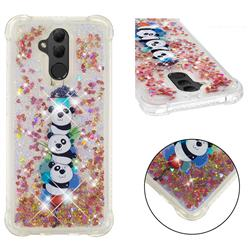 Three Pandas Dynamic Liquid Glitter Sand Quicksand Star TPU Case for Huawei Mate 20 Lite