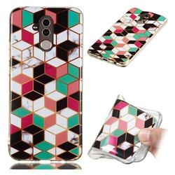 Three-dimensional Square Soft TPU Marble Pattern Phone Case for Huawei Mate 20 Lite