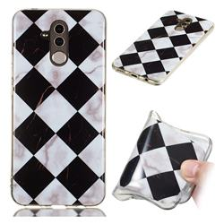 Black and White Matching Soft TPU Marble Pattern Phone Case for Huawei Mate 20 Lite