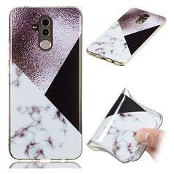 Black white Grey Soft TPU Marble Pattern Phone Case for Huawei Mate 20 Lite
