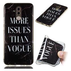 Stylish Black Soft TPU Marble Pattern Phone Case for Huawei Mate 20 Lite