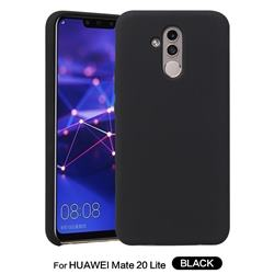 Howmak Slim Liquid Silicone Rubber Shockproof Phone Case Cover for Huawei Mate 20 Lite - Black