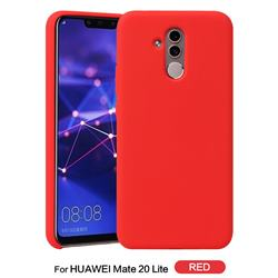 Howmak Slim Liquid Silicone Rubber Shockproof Phone Case Cover for Huawei Mate 20 Lite - Red