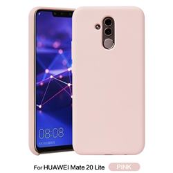 Howmak Slim Liquid Silicone Rubber Shockproof Phone Case Cover for Huawei Mate 20 Lite - Pink