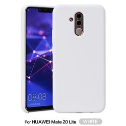 Howmak Slim Liquid Silicone Rubber Shockproof Phone Case Cover for Huawei Mate 20 Lite - White