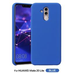 Howmak Slim Liquid Silicone Rubber Shockproof Phone Case Cover for Huawei Mate 20 Lite - Sky Blue