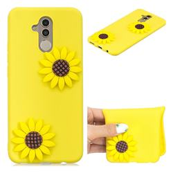 Yellow Sunflower Soft 3D Silicone Case for Huawei Mate 20 Lite