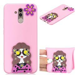 Violet Girl Soft 3D Silicone Case for Huawei Mate 20 Lite