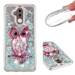 Seashell Owl Dynamic Liquid Glitter Quicksand Soft TPU Case for Huawei Mate 20 Lite