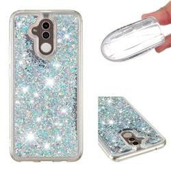Dynamic Liquid Glitter Quicksand Sequins TPU Phone Case for Huawei Mate 20 Lite - Silver