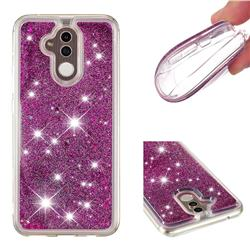 Dynamic Liquid Glitter Quicksand Sequins TPU Phone Case for Huawei Mate 20 Lite - Purple