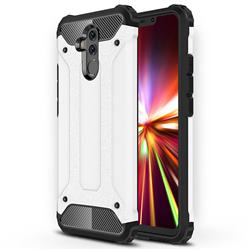 King Kong Armor Premium Shockproof Dual Layer Rugged Hard Cover for Huawei Mate 20 Lite - White