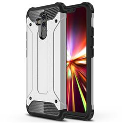 King Kong Armor Premium Shockproof Dual Layer Rugged Hard Cover for Huawei Mate 20 Lite - Technology Silver