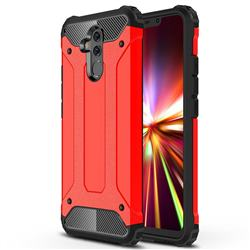 King Kong Armor Premium Shockproof Dual Layer Rugged Hard Cover for Huawei Mate 20 Lite - Big Red