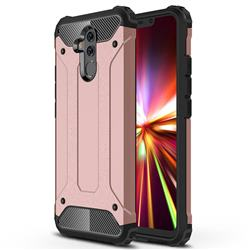 King Kong Armor Premium Shockproof Dual Layer Rugged Hard Cover for Huawei Mate 20 Lite - Rose Gold