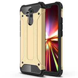 King Kong Armor Premium Shockproof Dual Layer Rugged Hard Cover for Huawei Mate 20 Lite - Champagne Gold