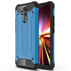 King Kong Armor Premium Shockproof Dual Layer Rugged Hard Cover for Huawei Mate 20 Lite - Sky Blue