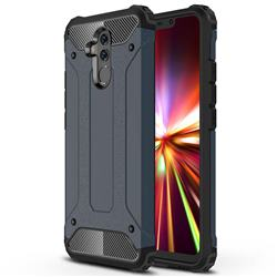 King Kong Armor Premium Shockproof Dual Layer Rugged Hard Cover for Huawei Mate 20 Lite - Navy