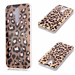 Leopard Galvanized Rose Gold Marble Phone Back Cover for Huawei Mate 20 Lite