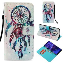 ColorDrops Wind Chimes 3D Painted Leather Wallet Case for Huawei Mate 20 Lite