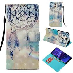 Fantasy Campanula 3D Painted Leather Wallet Case for Huawei Mate 20 Lite
